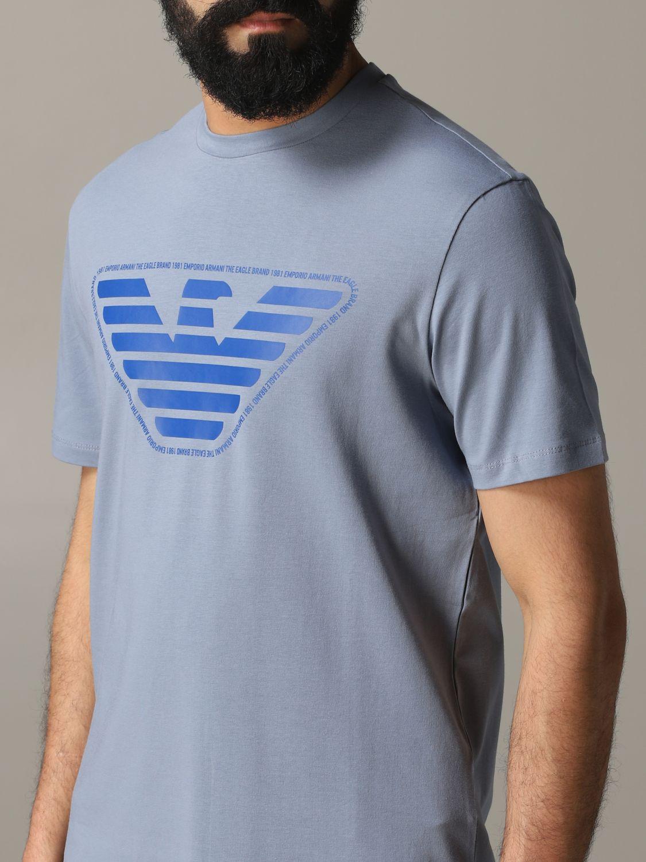 T-Shirt Emporio Armani: Emporio Armani T-Shirt mit Logo grau 5