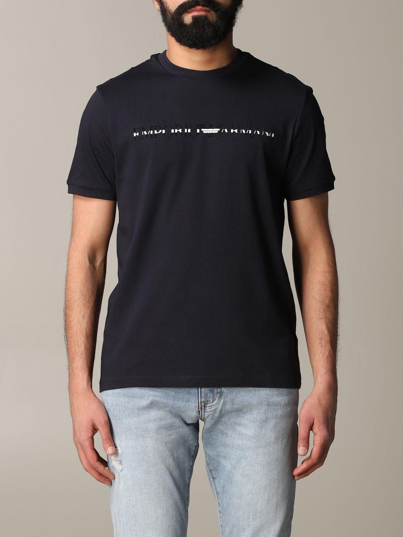 T-shirt Emporio Armani: T-shirt men Emporio Armani blue 1