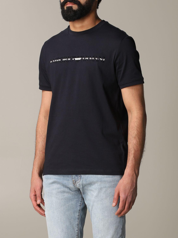 T-shirt Emporio Armani: T-shirt men Emporio Armani blue 4