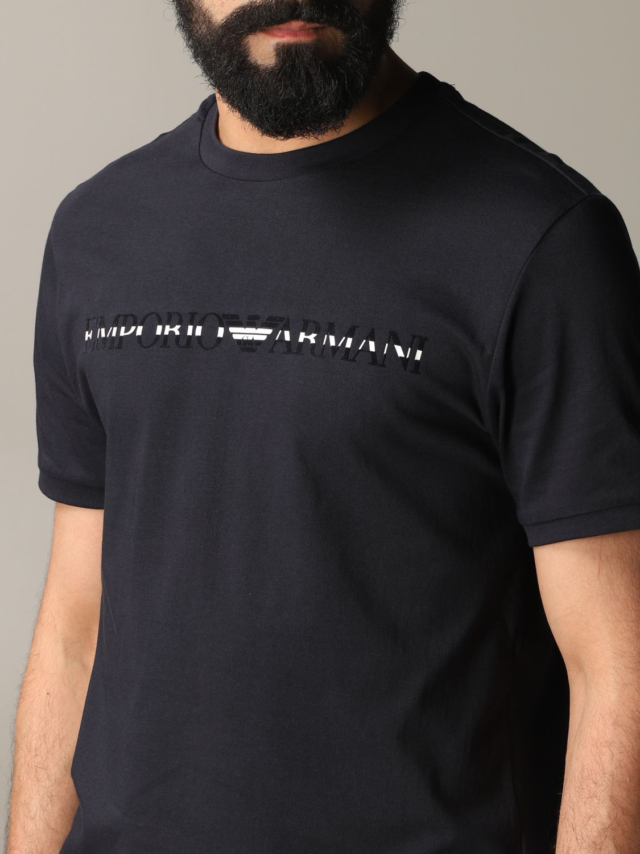 T-shirt Emporio Armani: T-shirt men Emporio Armani blue 5