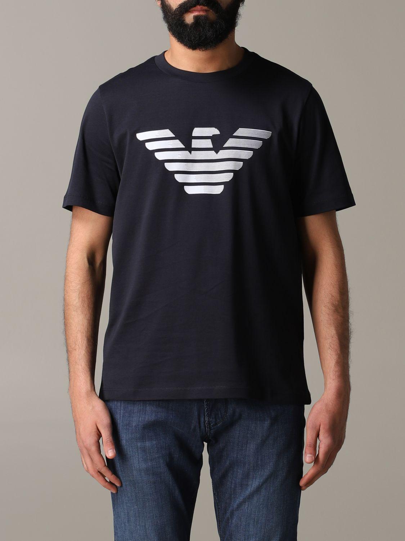 T-Shirt Emporio Armani: Emporio Armani T-Shirt mit Logo blau 1