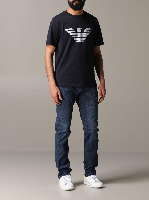 T-Shirt Emporio Armani: Emporio Armani T-Shirt mit Logo blau 2