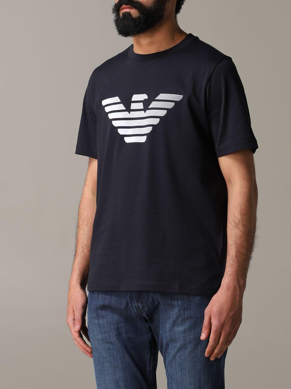 T-Shirt Emporio Armani: Emporio Armani T-Shirt mit Logo blau 4