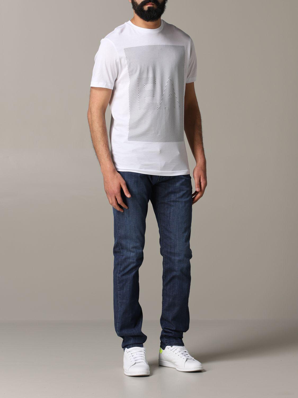 T-Shirt Emporio Armani: Emporio Armani T-Shirt mit Logo weiß 2