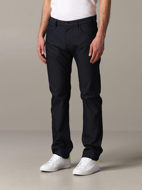 Hose Emporio Armani: Emporio Armani Hose aus Baumwolle blau 3