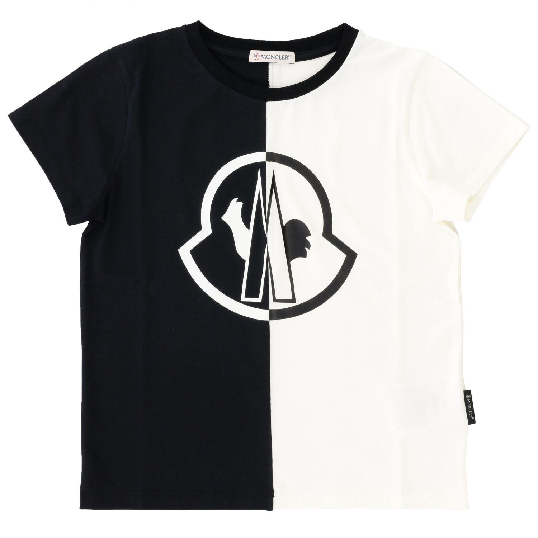 Camiseta Moncler de manga corta con logo grande negro 1