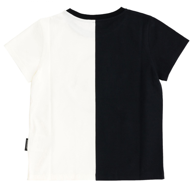 Camiseta Moncler de manga corta con logo grande negro 2