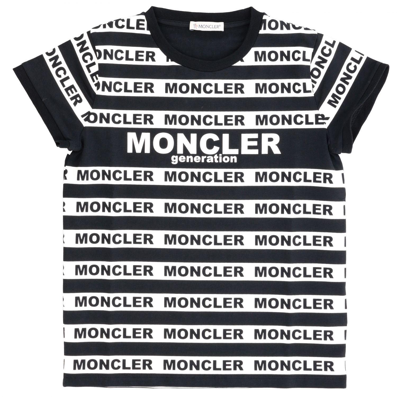 Футболка Moncler: Футболка Moncler с короткими рукавами и логотипом черный 1