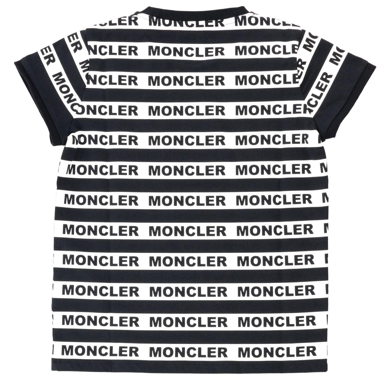 Футболка Moncler: Футболка Moncler с короткими рукавами и логотипом черный 2