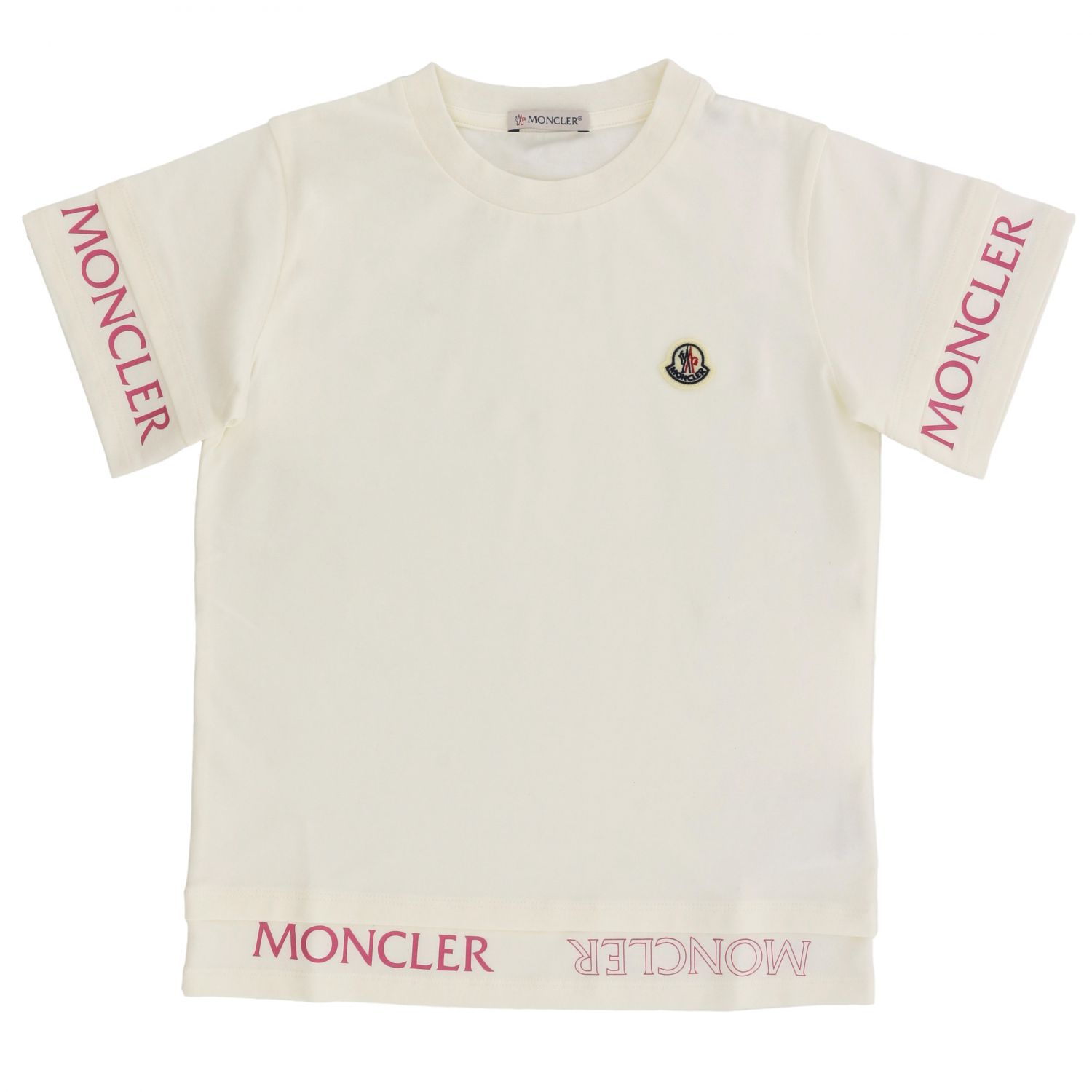 Moncler short-sleeved T-shirt with logo white 1