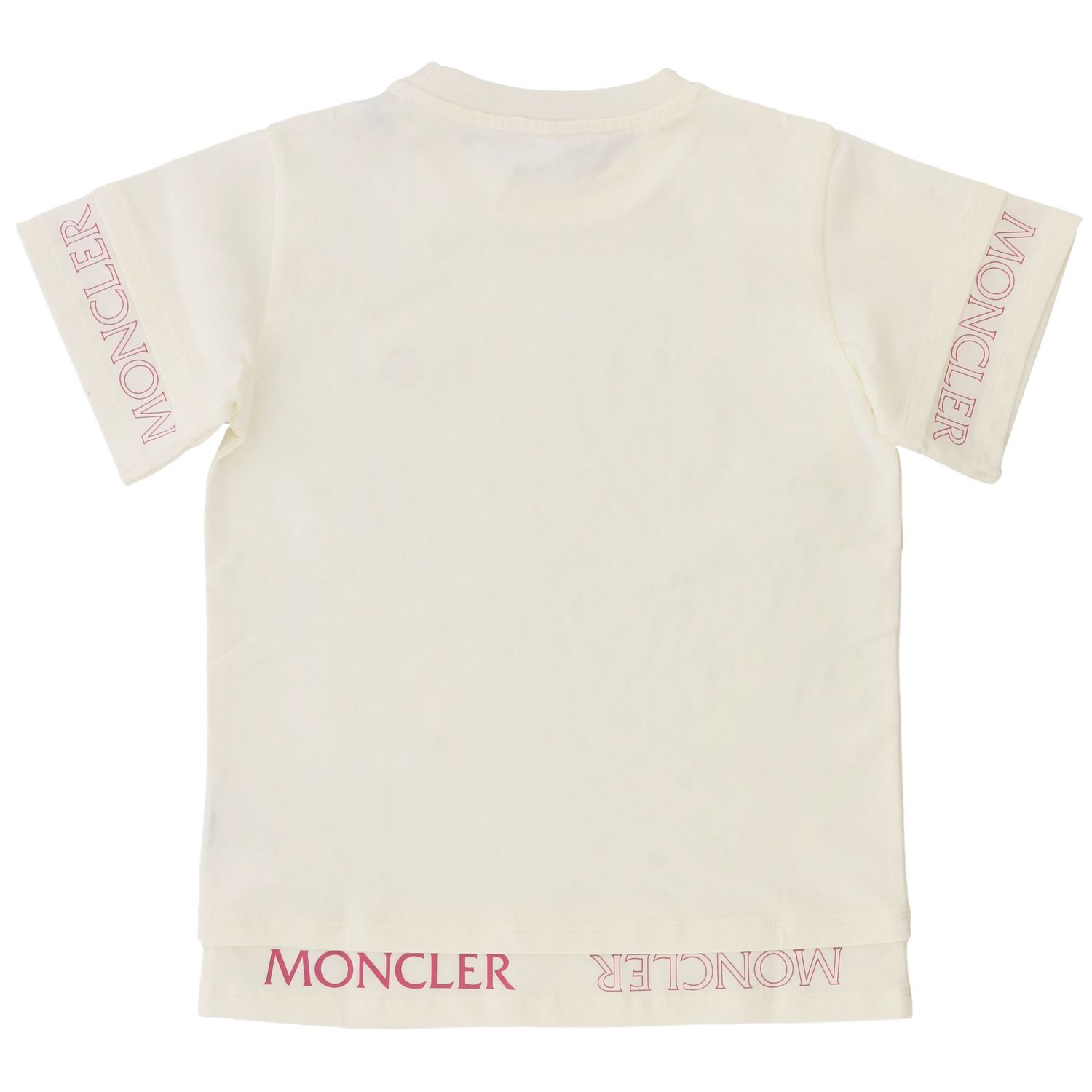 Moncler short-sleeved T-shirt with logo white 2