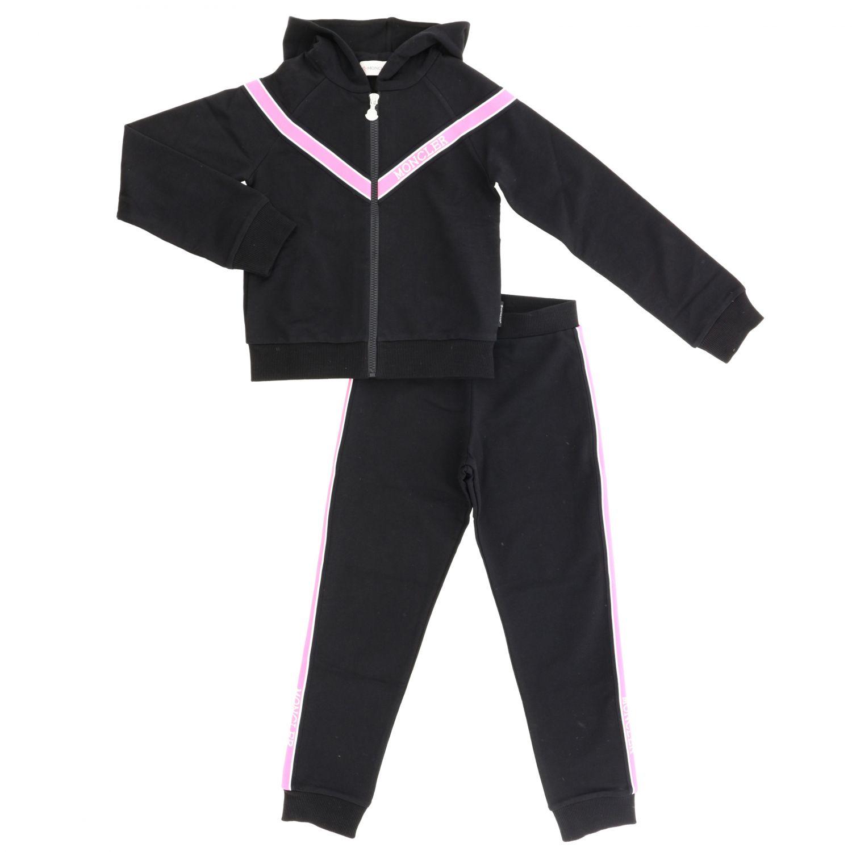 Mono Moncler: Sudadera + pantalón Moncler con bandas negro 1
