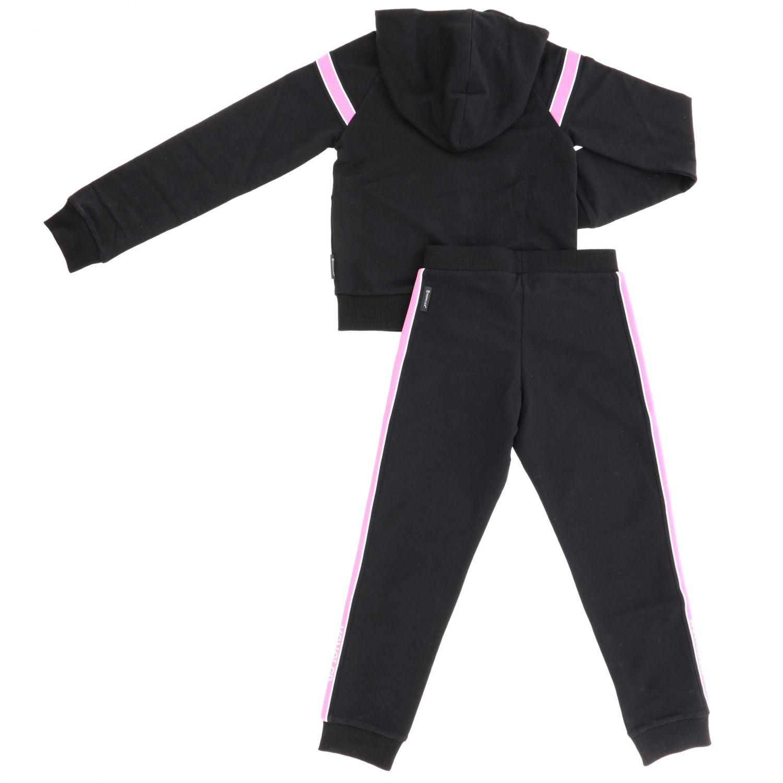 Anzug Moncler: Sweatshirt + Moncler Hose mit Streifen schwarz 2
