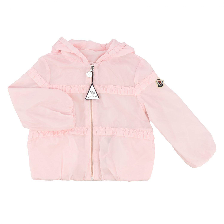 Blouson Hiti Moncler avec capuche en nylon rose 1