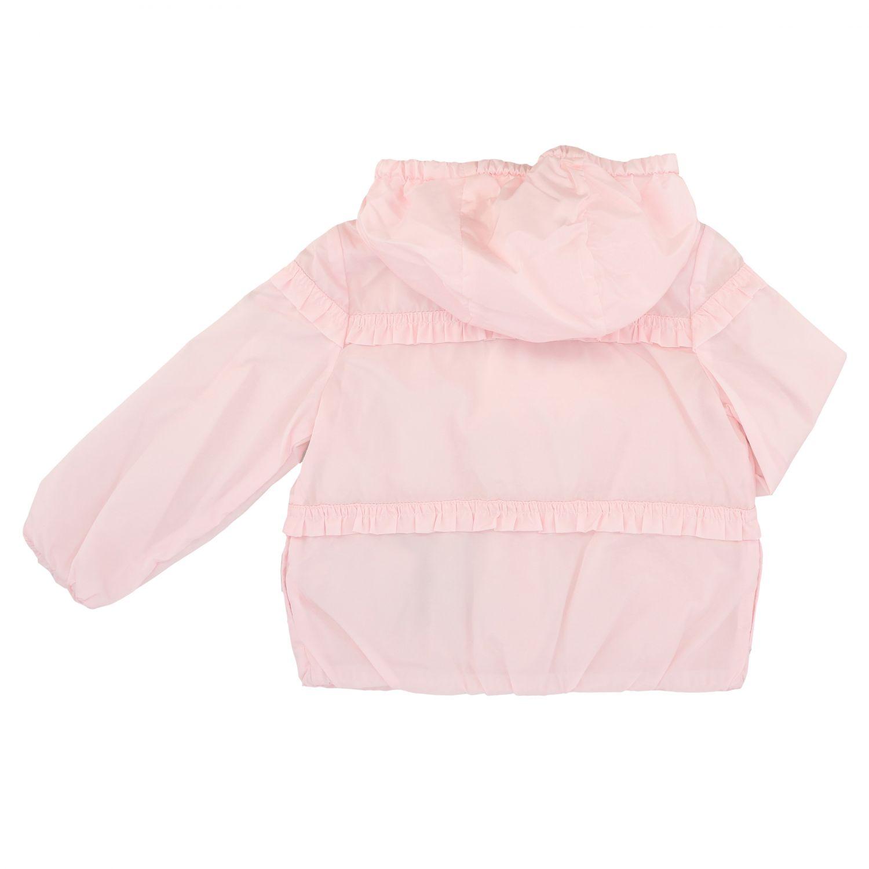 Blouson Hiti Moncler avec capuche en nylon rose 2