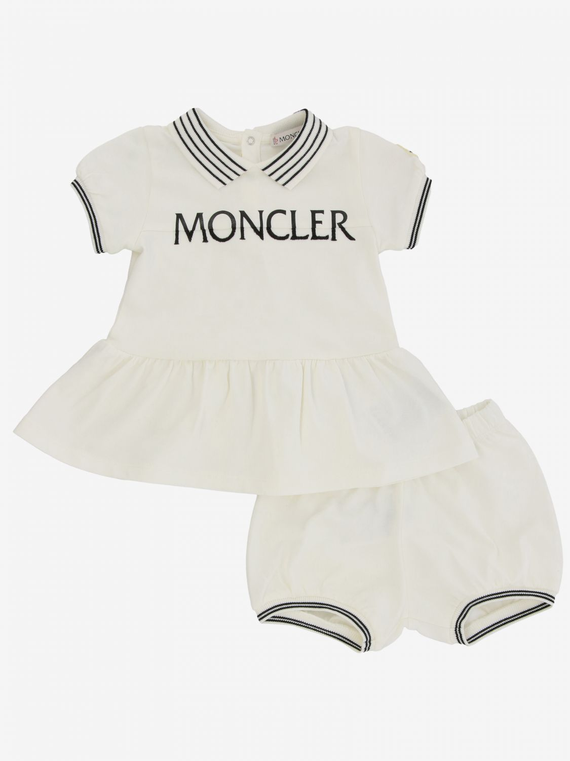 Moncler polo dress with shorts white 1