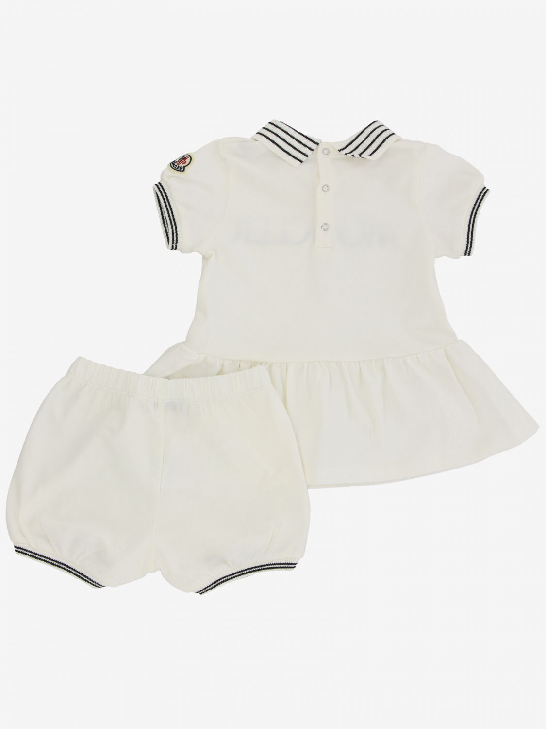 Moncler polo dress with shorts white 2