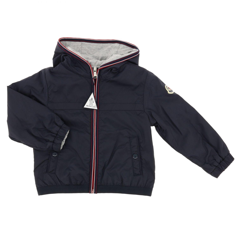 Anton Moncler nylon jacket with hood blue 1