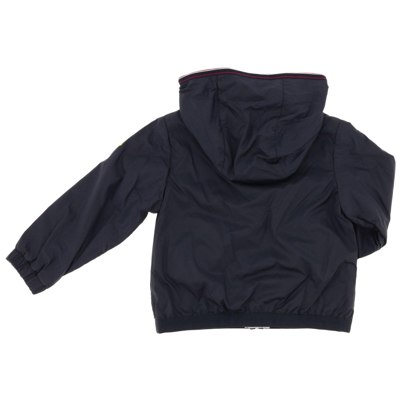 Anton Moncler nylon jacket with hood blue 2
