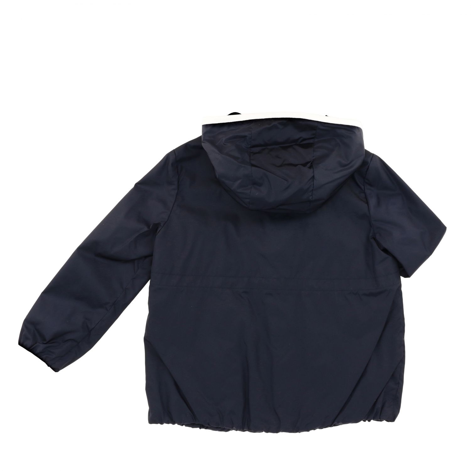 Moncler Eau nylon jacket with hood blue 2