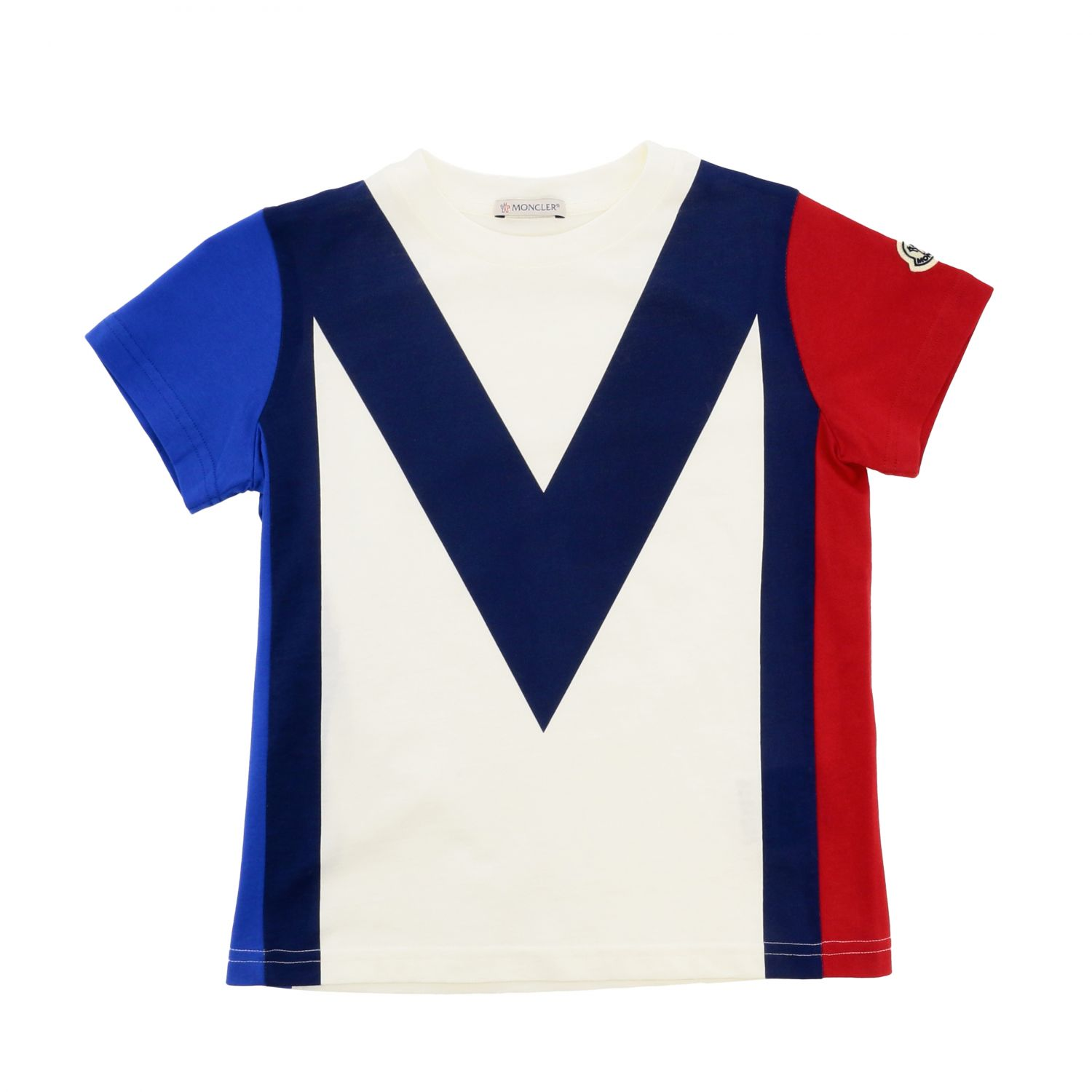 Moncler short-sleeved T-shirt with big m print white 1