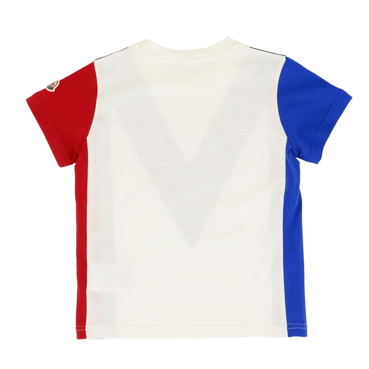 Moncler short-sleeved T-shirt with big m print white 2
