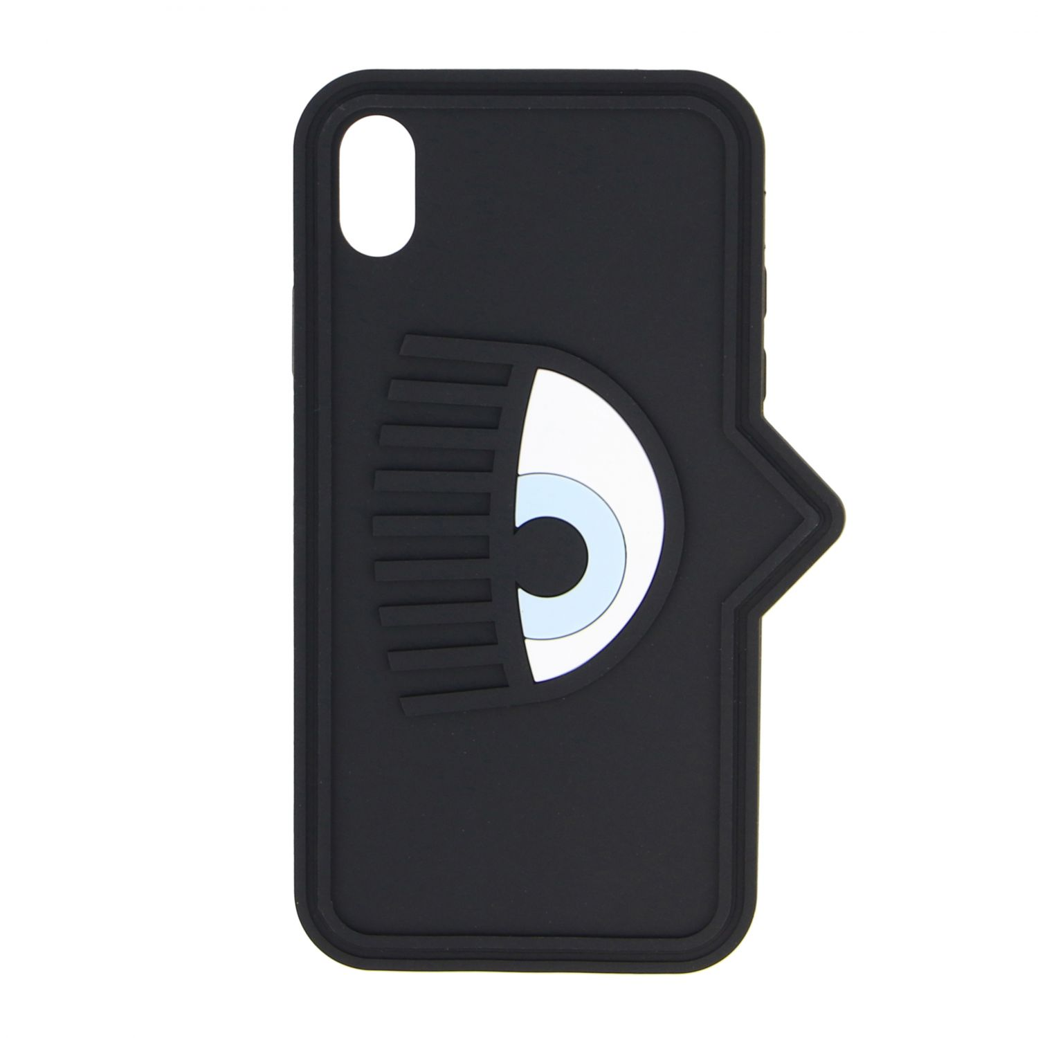 Chiara Ferragni case for Iphone xs in silicone with eye black 1