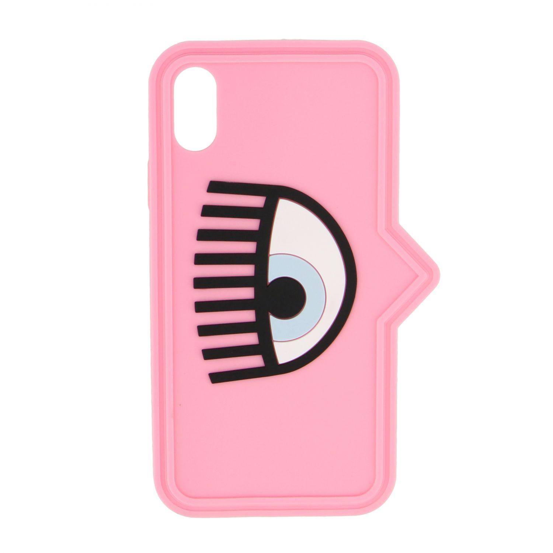 Cover Chiara Ferragni per Iphone xs in silicone con occhio rosa 1