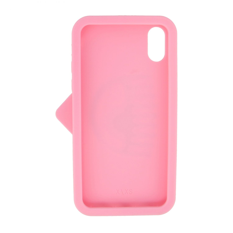 Cover Chiara Ferragni per Iphone xs in silicone con occhio rosa 2