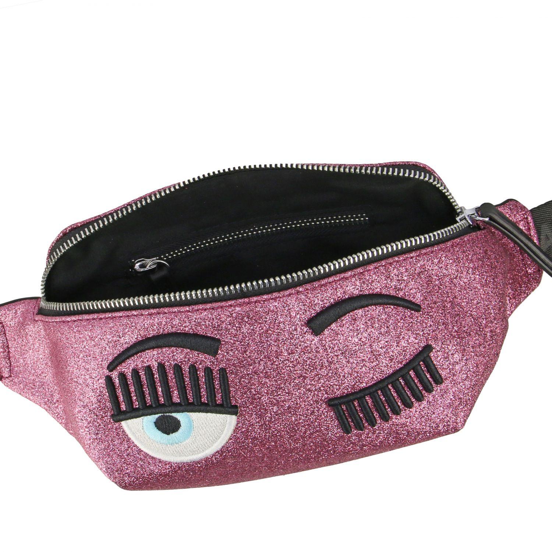 Marsupio Chiara Ferragni in tessuto glitter con ricamo flirting rosa 5