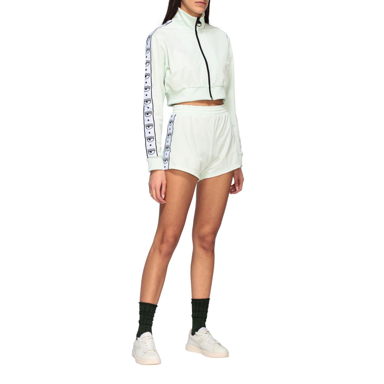 Trousers Chiara Ferragni: Short women Chiara Ferragni mint 2