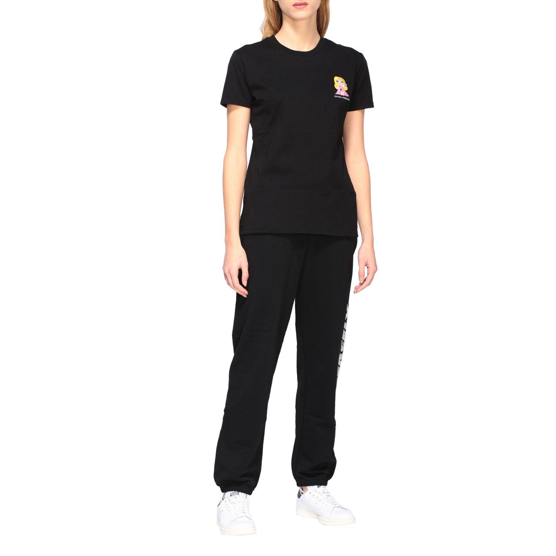 Chiara Ferragni t-shirt with embroidered mascot black 2
