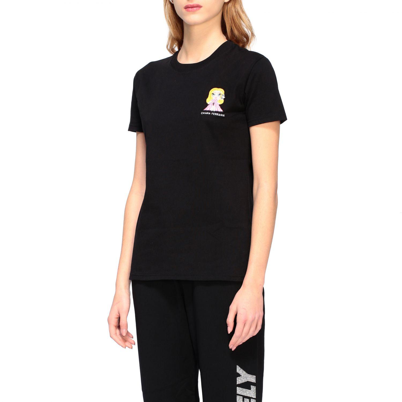 Chiara Ferragni t-shirt with embroidered mascot black 4