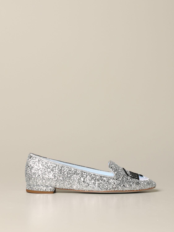 Loafers Chiara Ferragni: Shoes women Chiara Ferragni silver 1