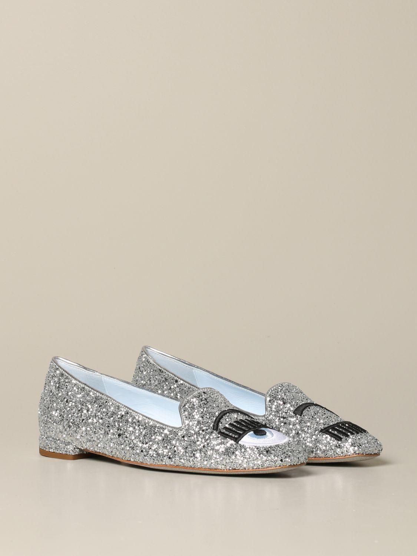 Loafers Chiara Ferragni: Shoes women Chiara Ferragni silver 2