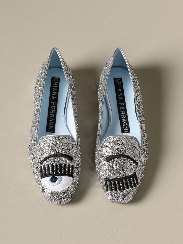 Loafers Chiara Ferragni: Shoes women Chiara Ferragni silver 3