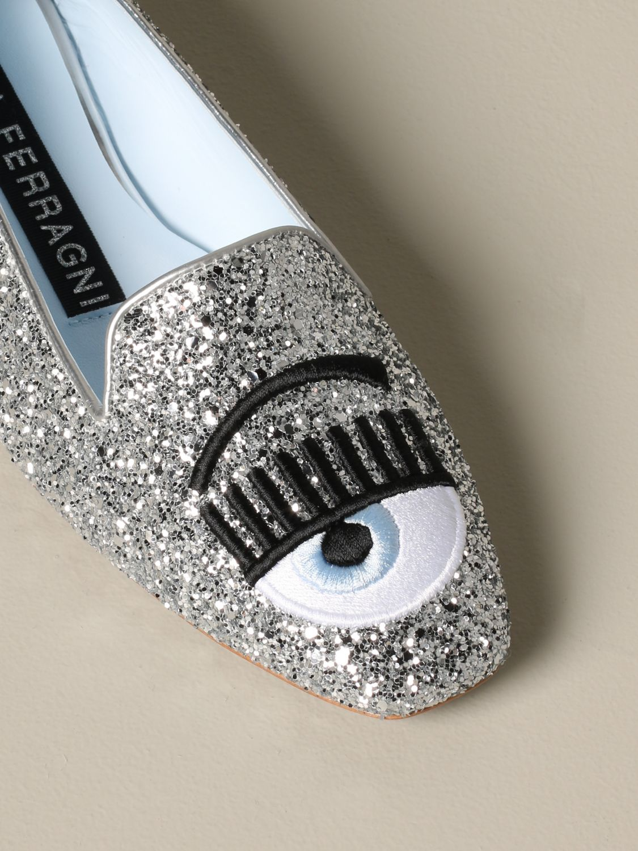 Loafers Chiara Ferragni: Shoes women Chiara Ferragni silver 4