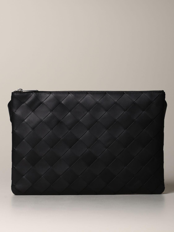 Bottega Veneta bag in woven leather black 1