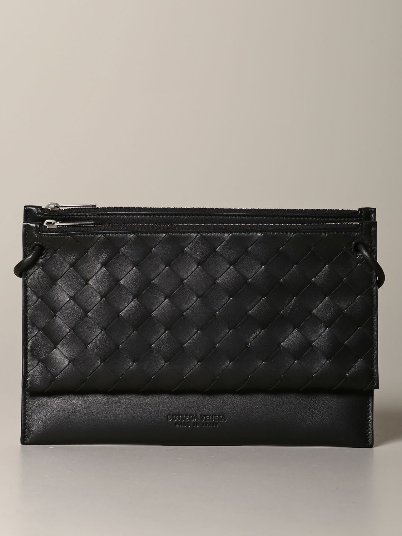 Belt bag Bottega Veneta: Bottega Veneta bag in woven leather black 1