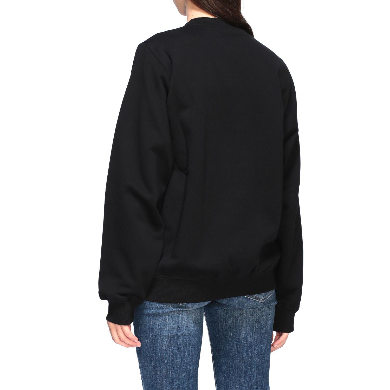 Diesel Sweatshirt mit Rundhalsausschnitt und Logo-Print schwarz 3