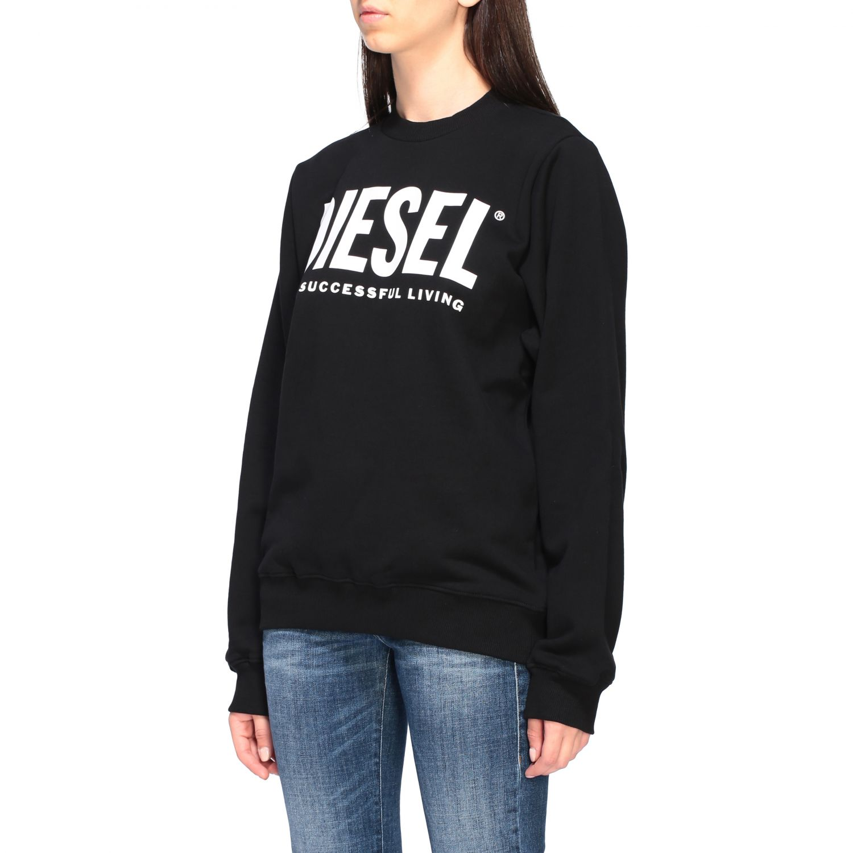 Diesel Sweatshirt mit Rundhalsausschnitt und Logo-Print schwarz 4