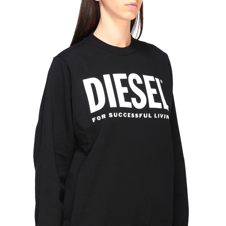 Diesel Sweatshirt mit Rundhalsausschnitt und Logo-Print schwarz 5