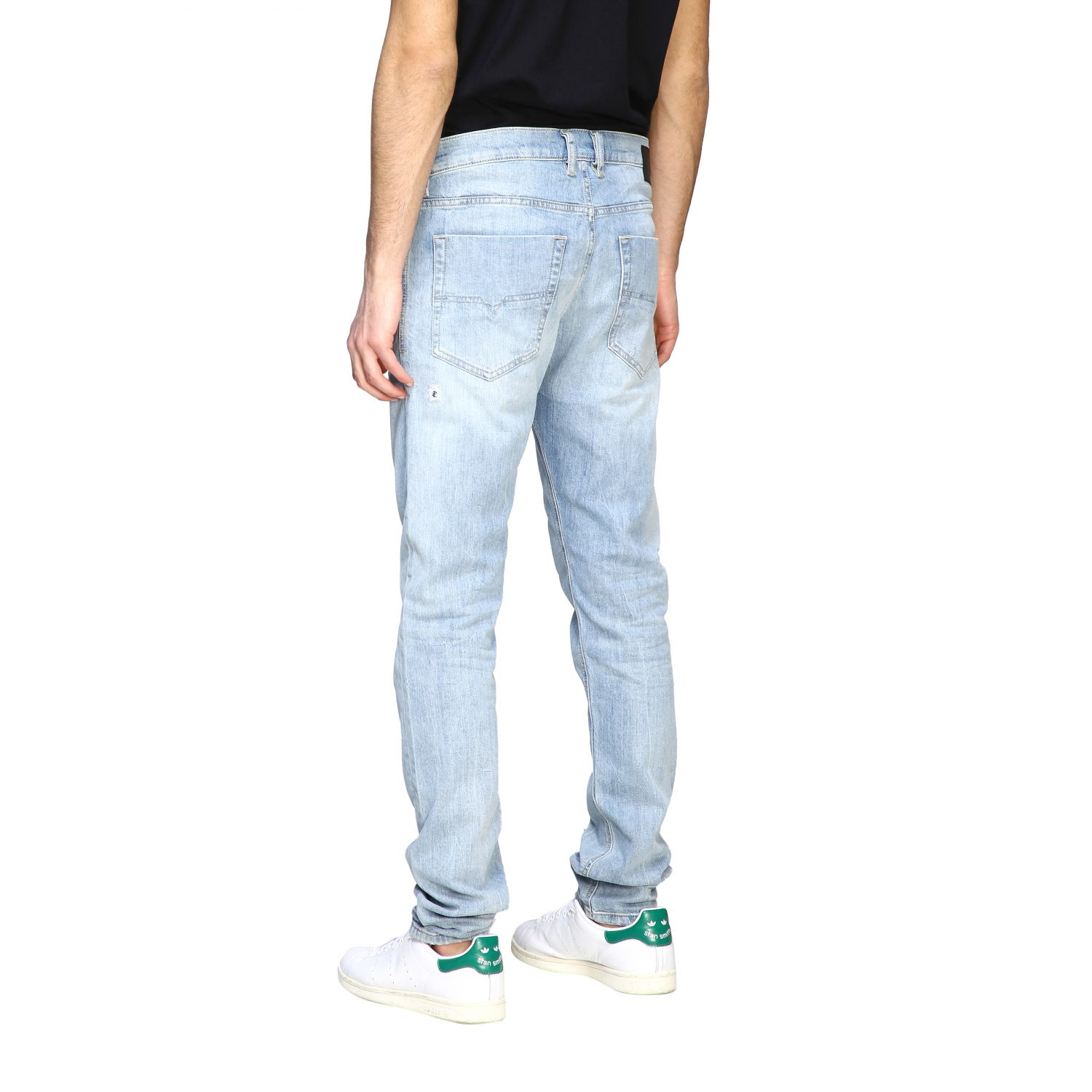 Jeans Diesel: Diesel Tepphar-x Jeans aus Used Stretch-Denim mit normaler Taille stone bleached 3