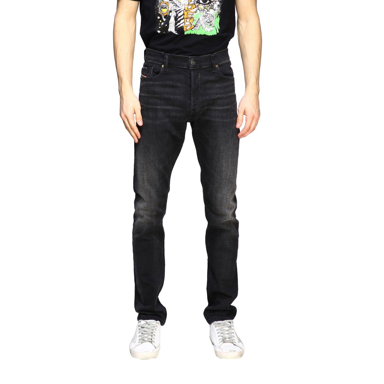 Jeans Diesel: Diesel Tepphar-x Jeans aus Used Stretch-Denim mit normaler Taille schwarz 1