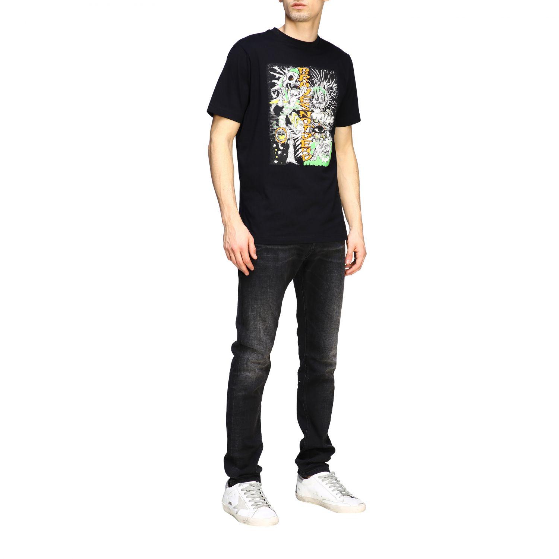 Jeans Diesel: Diesel Tepphar-x Jeans aus Used Stretch-Denim mit normaler Taille schwarz 2