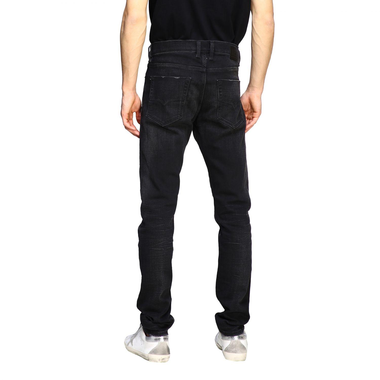 Jeans Diesel: Diesel Tepphar-x Jeans aus Used Stretch-Denim mit normaler Taille schwarz 3