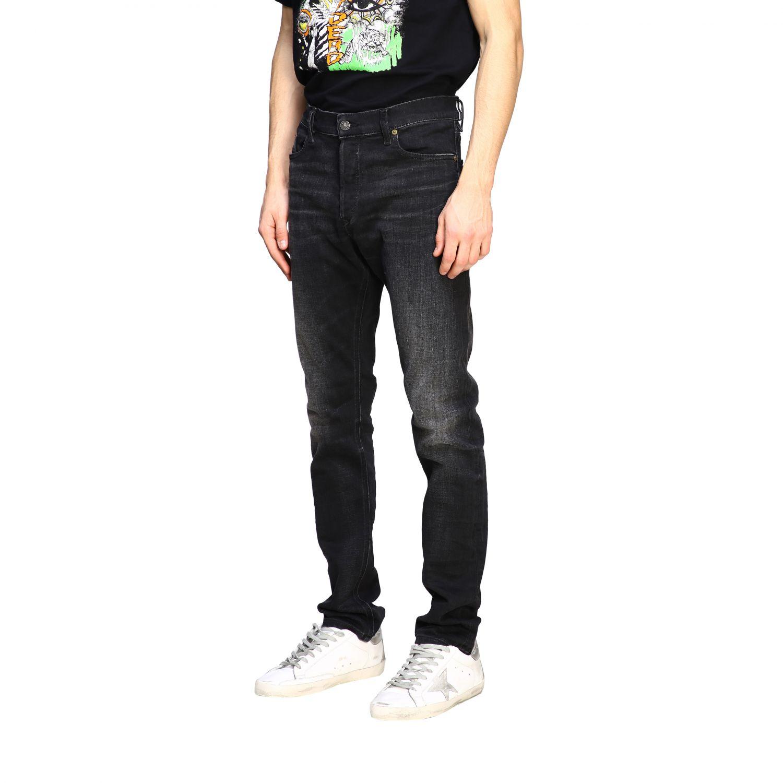 Jeans Diesel: Diesel Tepphar-x Jeans aus Used Stretch-Denim mit normaler Taille schwarz 4
