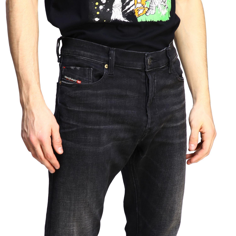 Jeans Diesel: Diesel Tepphar-x Jeans aus Used Stretch-Denim mit normaler Taille schwarz 5