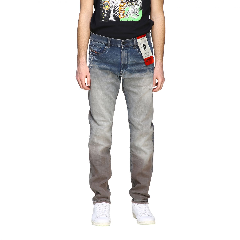 Jeans Diesel: Diesel D-Strukt Jeans aus Used Stretch-Denim mit normaler Taille stone washed 1