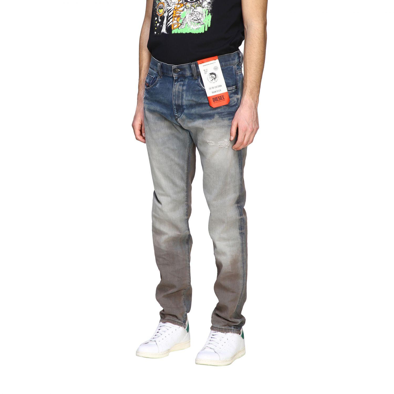 Jeans Diesel: Diesel D-Strukt Jeans aus Used Stretch-Denim mit normaler Taille stone washed 4